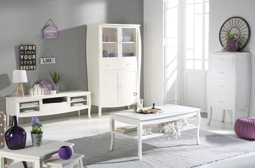 NIMES WHITE LIVING ROOM