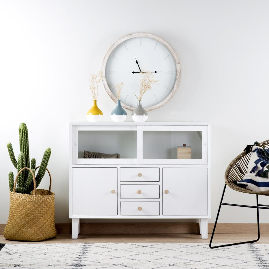 Merian narrow white gala sideboard