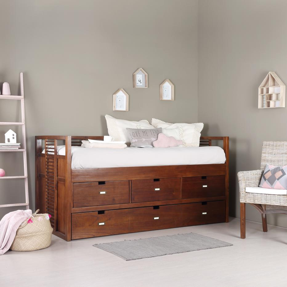 Stick trundle bed w/ drawers