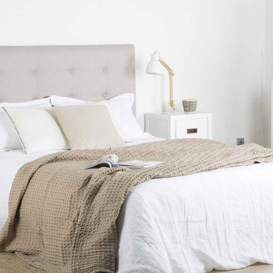 ñosai linen honeycomb bedspread 180x260