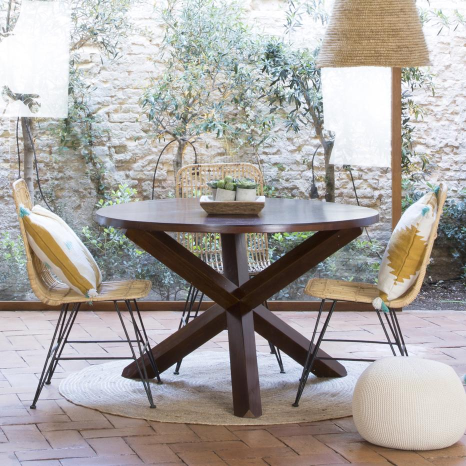 Carot tavolo legno 120d teak banak importa for Tavolo legno teak