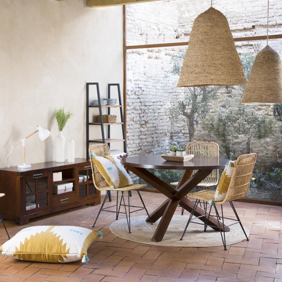 Carot mesa madera 120d teca banak importa for Banak mesas comedor