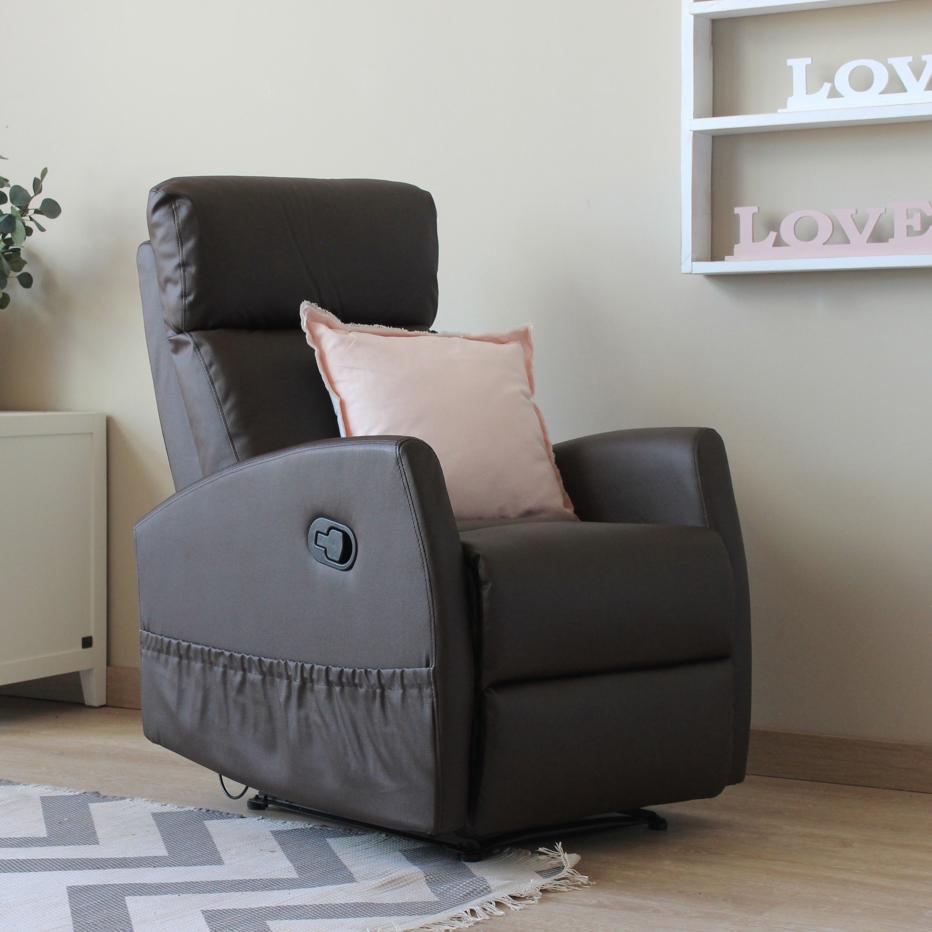 Karlo fauteuil actionnement relax m canique banak importa - Fauteuil relax mecanique ...