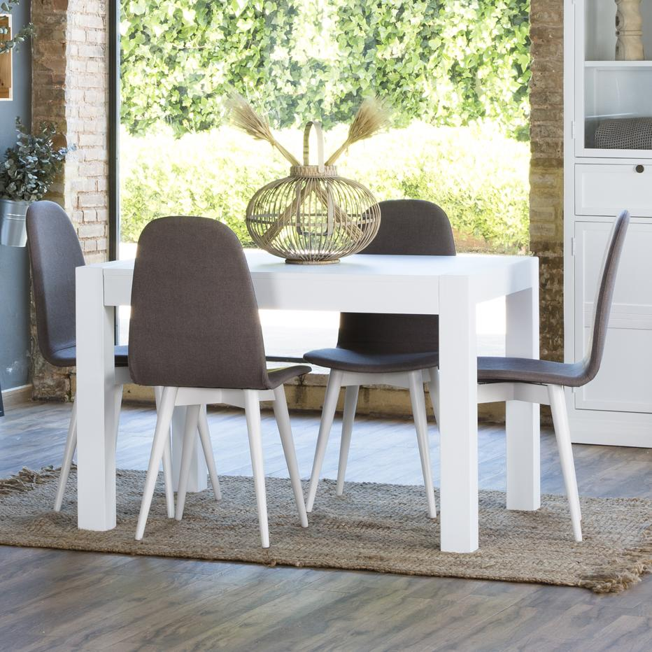 Alba white extendible table 120/170