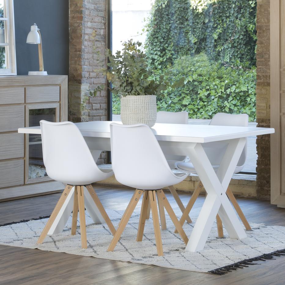 Gauss tavolo legno 160x90 bianco