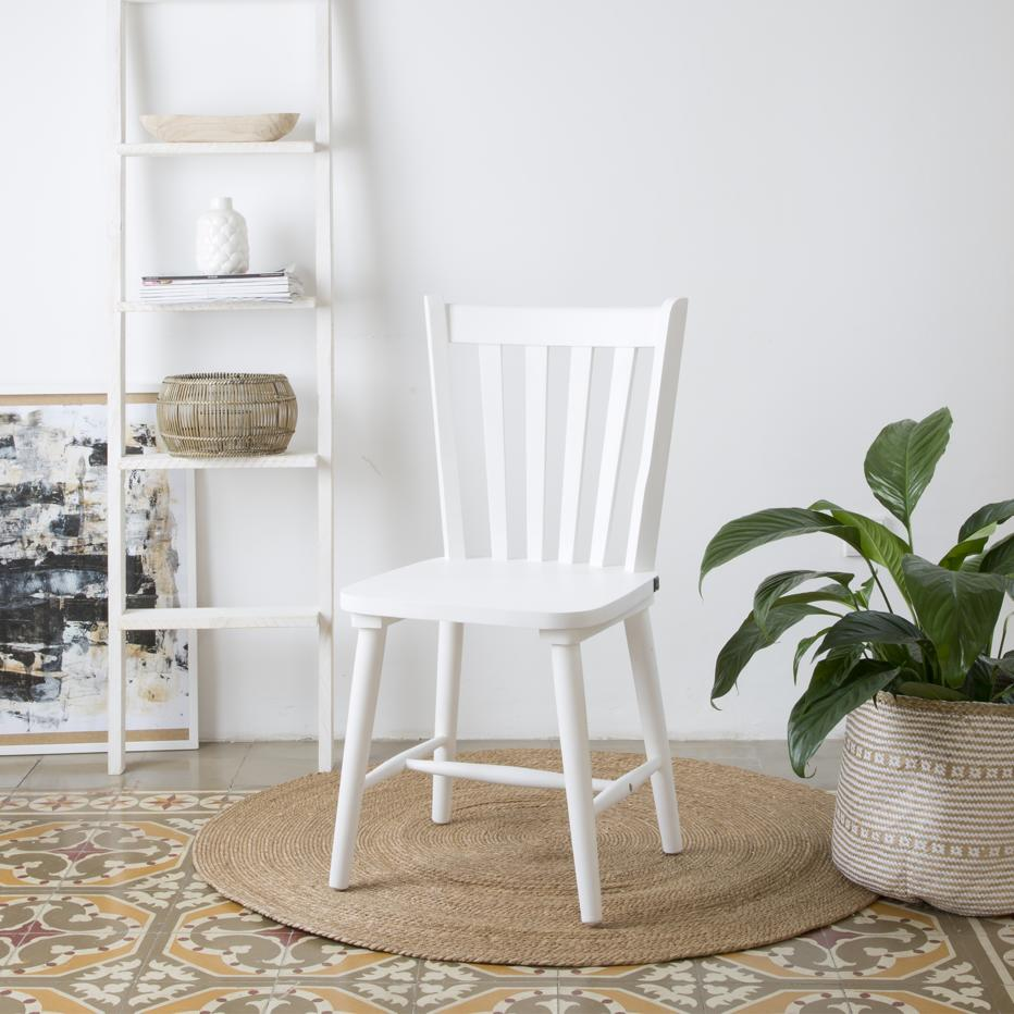 Boho white chair