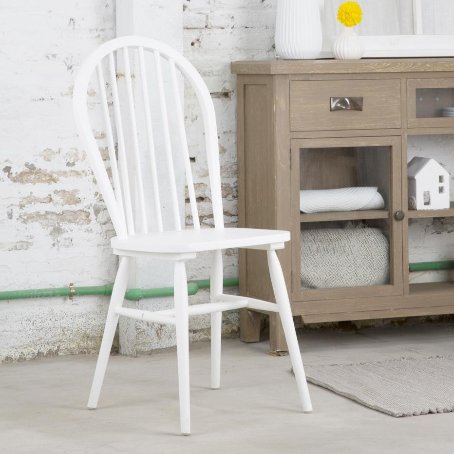 Country white chair