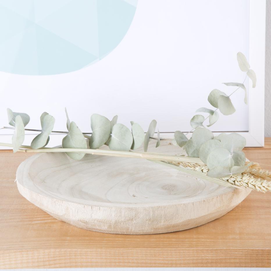 Lops centro de mesa madeira natural