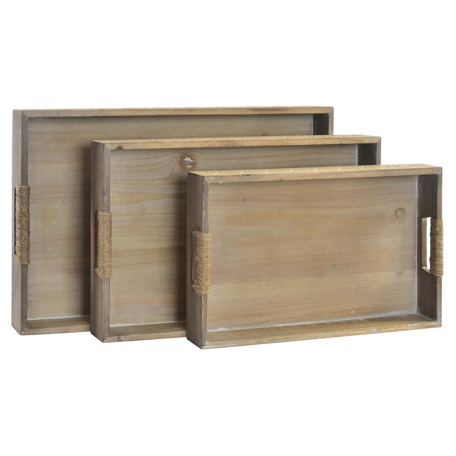 Nexa  set 3 bandejas madera