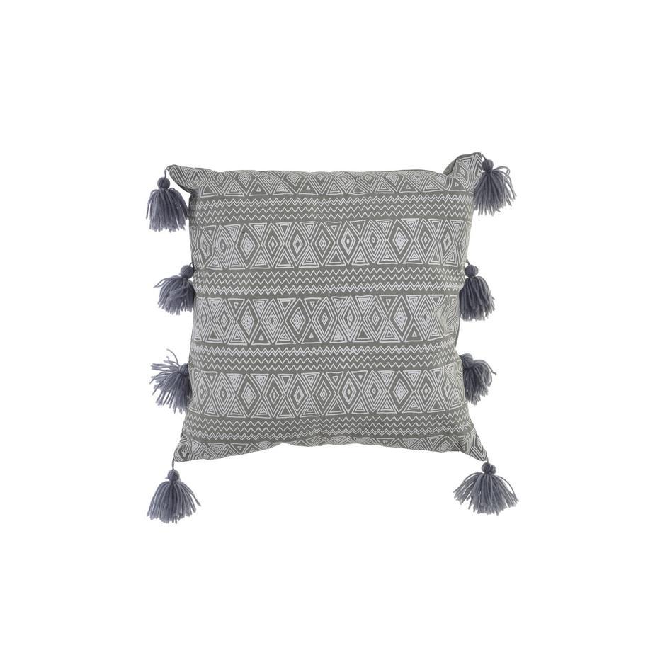 Esop grey border cushion
