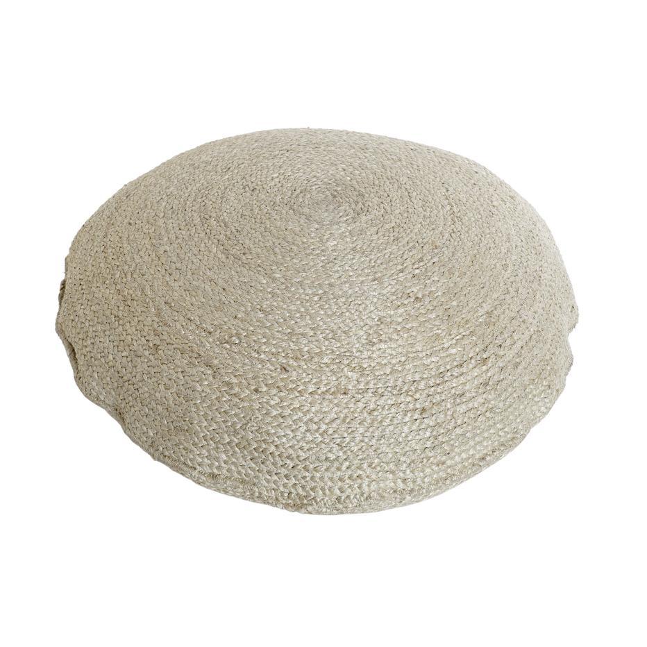 Xai cojin suelo fibra trenzado beig 60x60x20 5000gr.