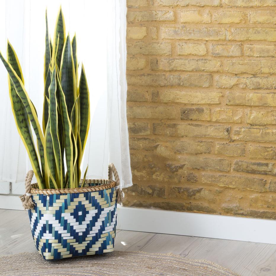 Slaej set 3 cestas bambu boho azul