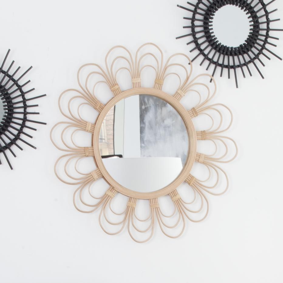 Marg brown natural mirror
