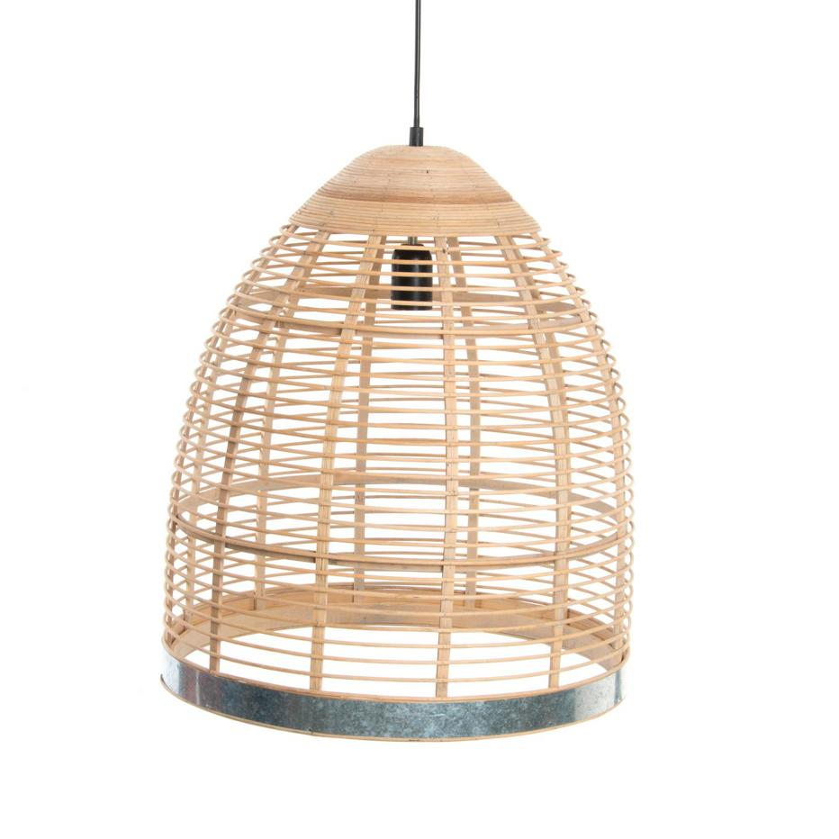 Deni  lampara techo bambu metal natural