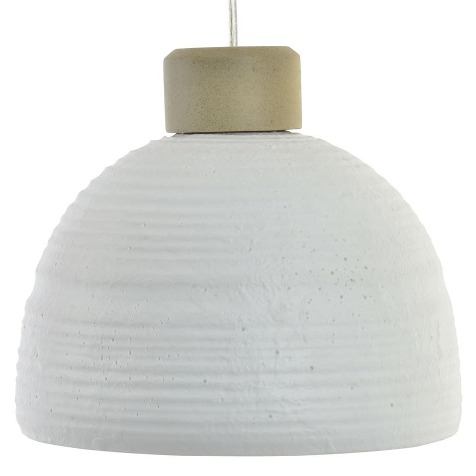 Lucca white porcelain lamp