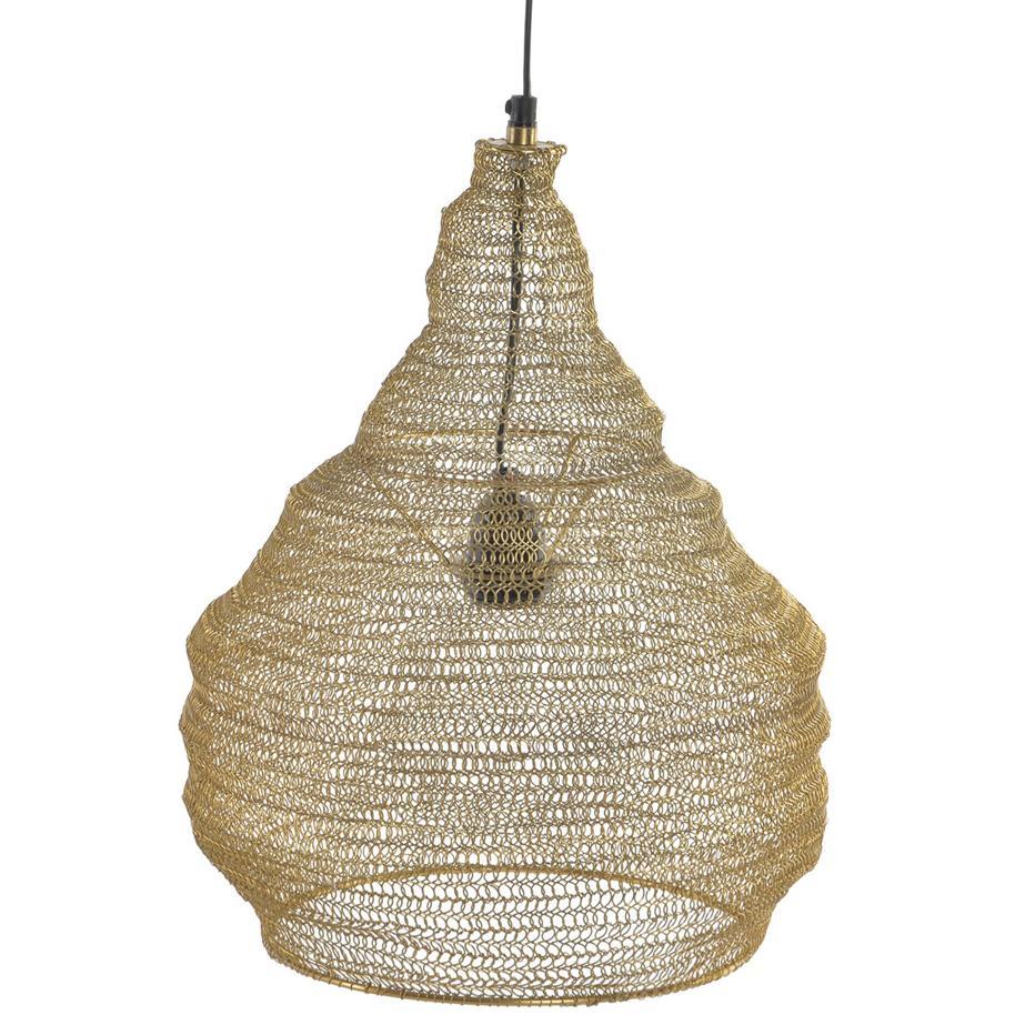Naya lampara techo trenzado