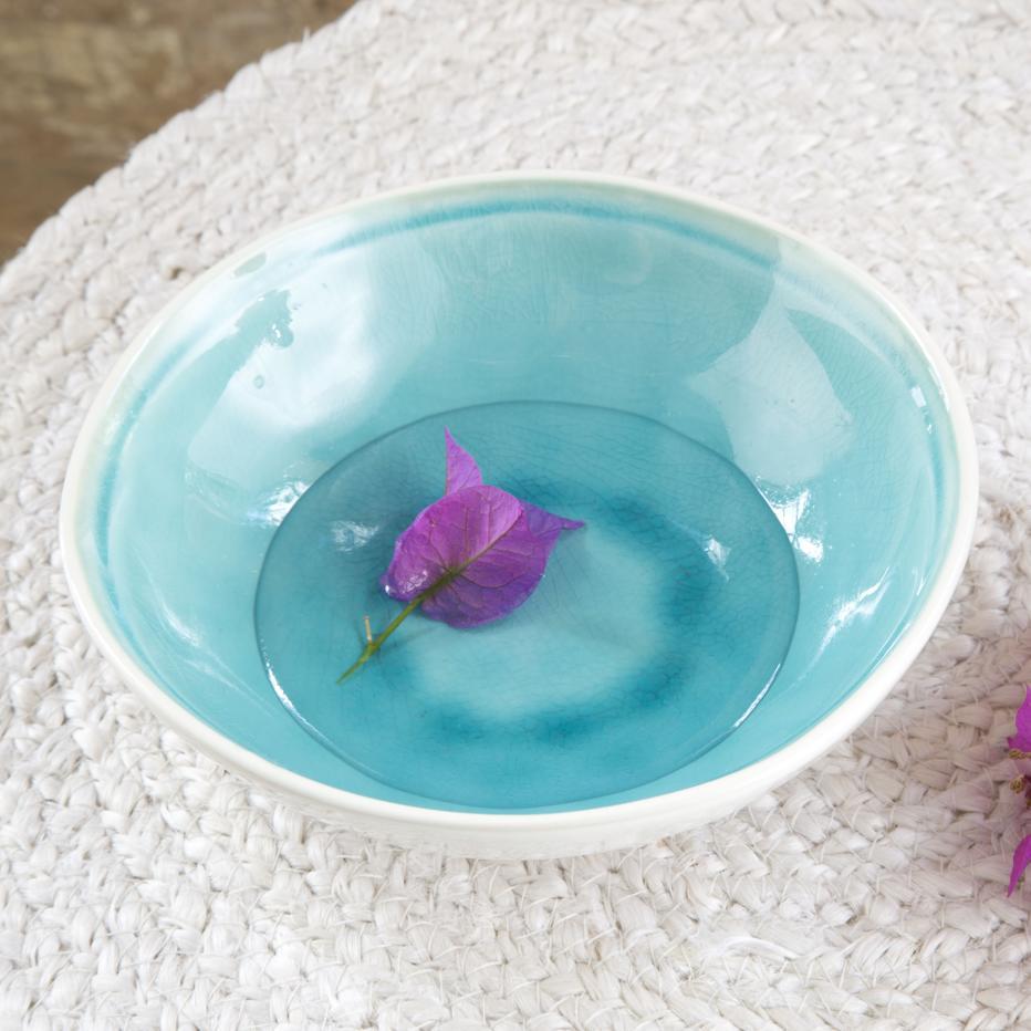 Lyo varnished blue bowl
