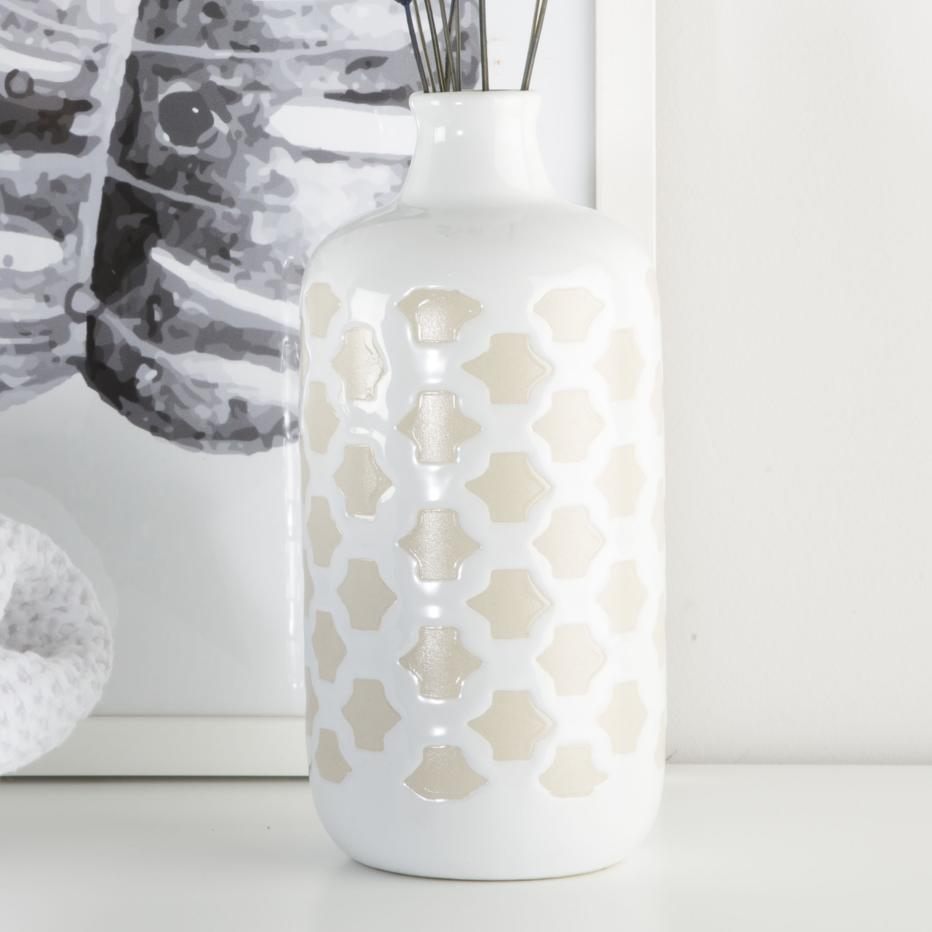 Tanuy jarron porcelana 9x13  blanco