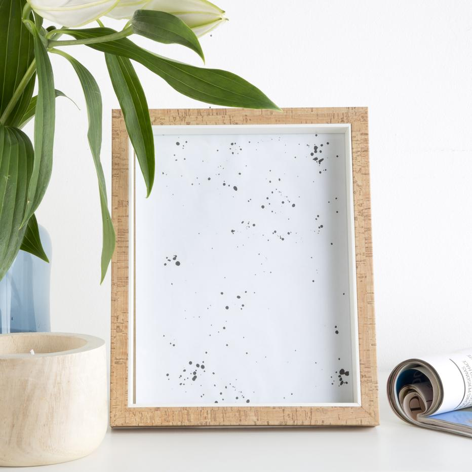 Nisde marco foto madera  corcho 20x25 23x28x3 natural