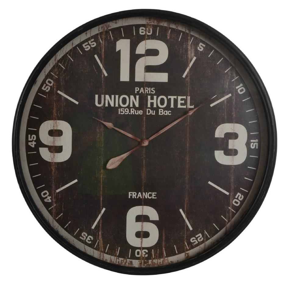 Enen reloj pared metal cristal 90 d. envejecido