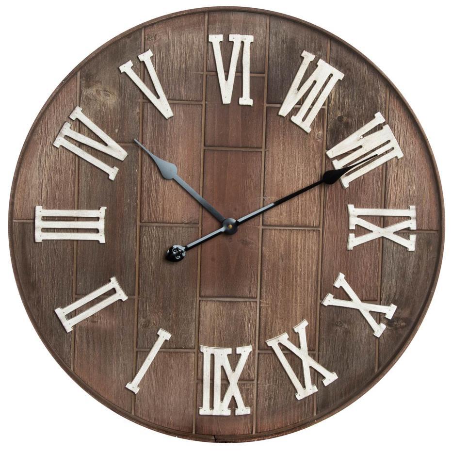 Yord reloj pared madera 61x6 bodega natural