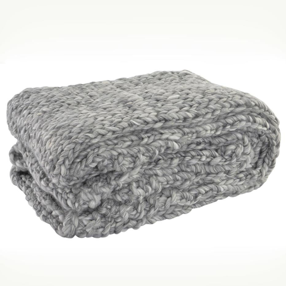 Lusa plaid en laine gris