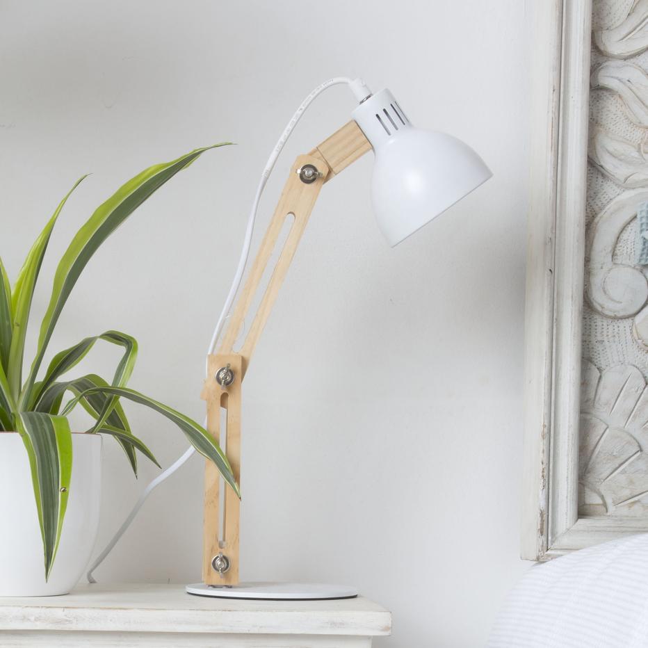 Pelsa lampada tavolo naturale-bianco 43h