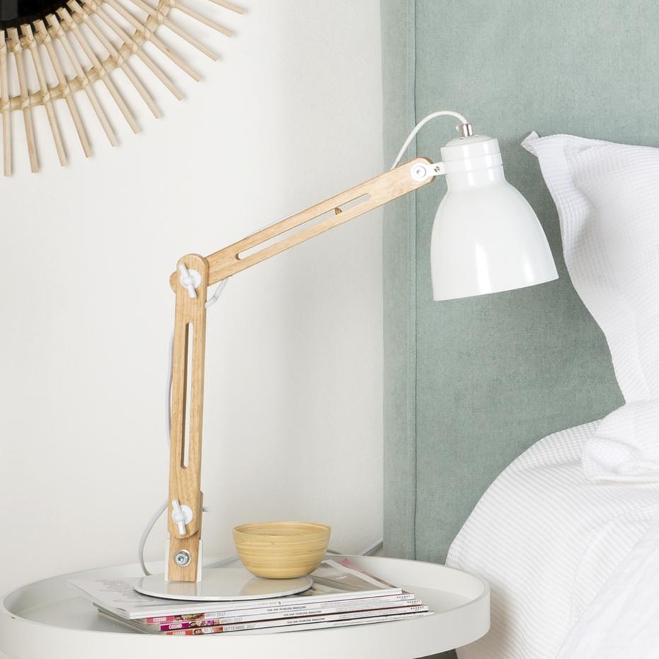 Colse candeeiro de mesa natural- branco