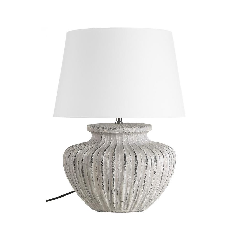 Zeves off-white table lamp