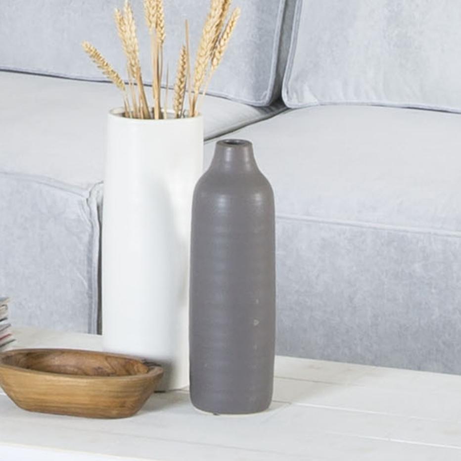 Bolsis matte grey ceramic vase