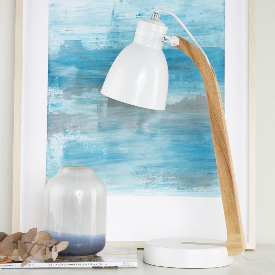 Lampada tavolo naturale-bianco