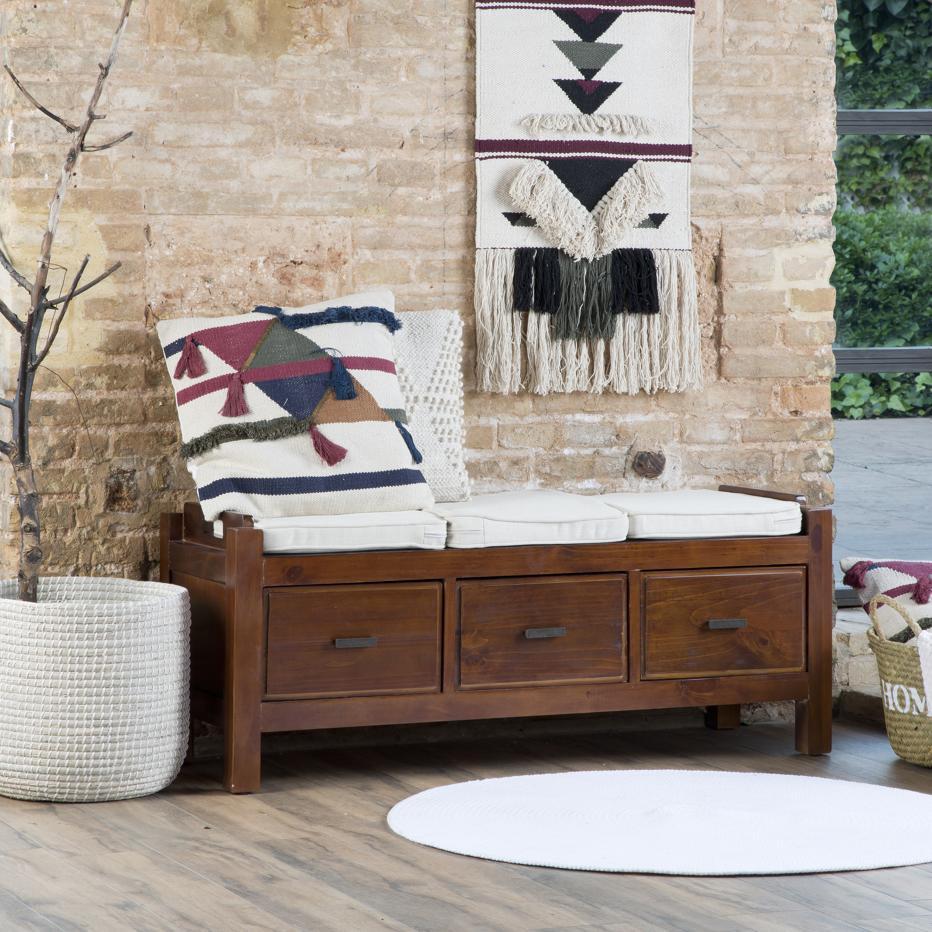 Nest mueble descalzador con cojines