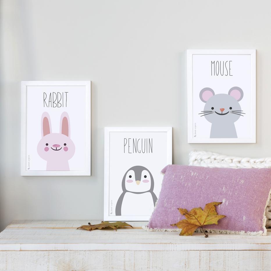 Set 3 childish prints a4