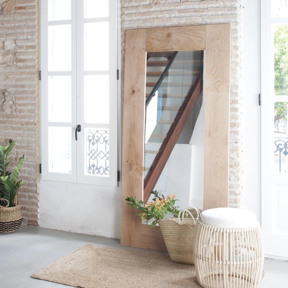 Nordic espejo vestidor 95x190 banak importa for Espejos de pared rectangulares