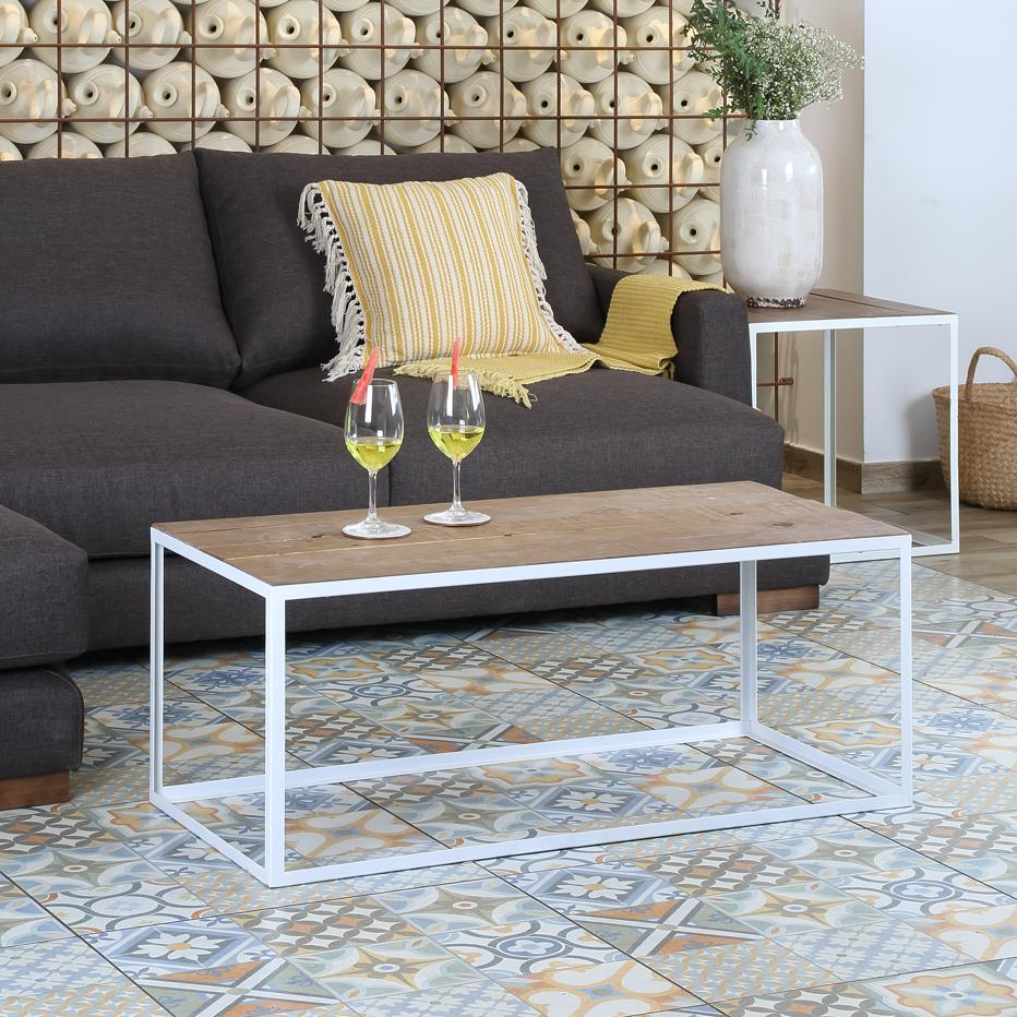 Nordic Mesa Centro Metal Blanco Banak Importa # Muebles Saskia Horario