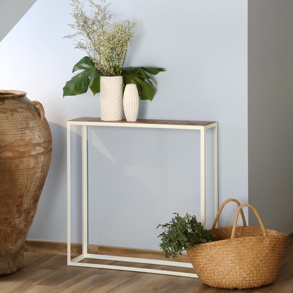 Nordic entrada metal blanco banak importa - Banak importa recibidores ...