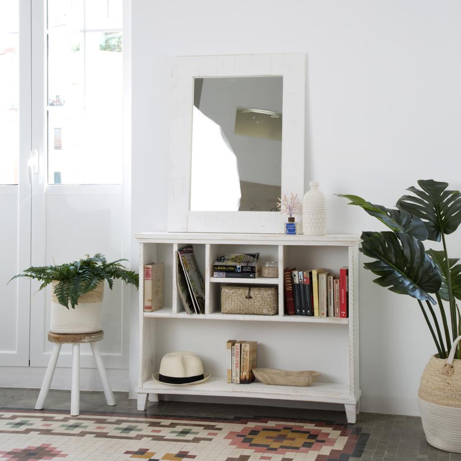 Fiord librero mueble auxiliar banak importa for Mueble auxiliar rustico