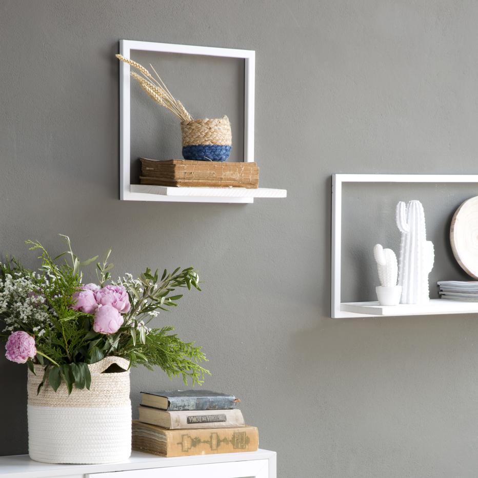 Nordic estante metal 40 blanco