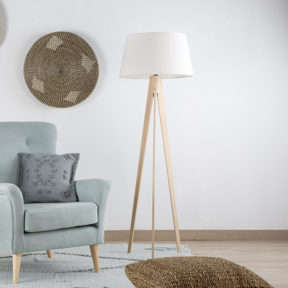 Lure natural floor lamp