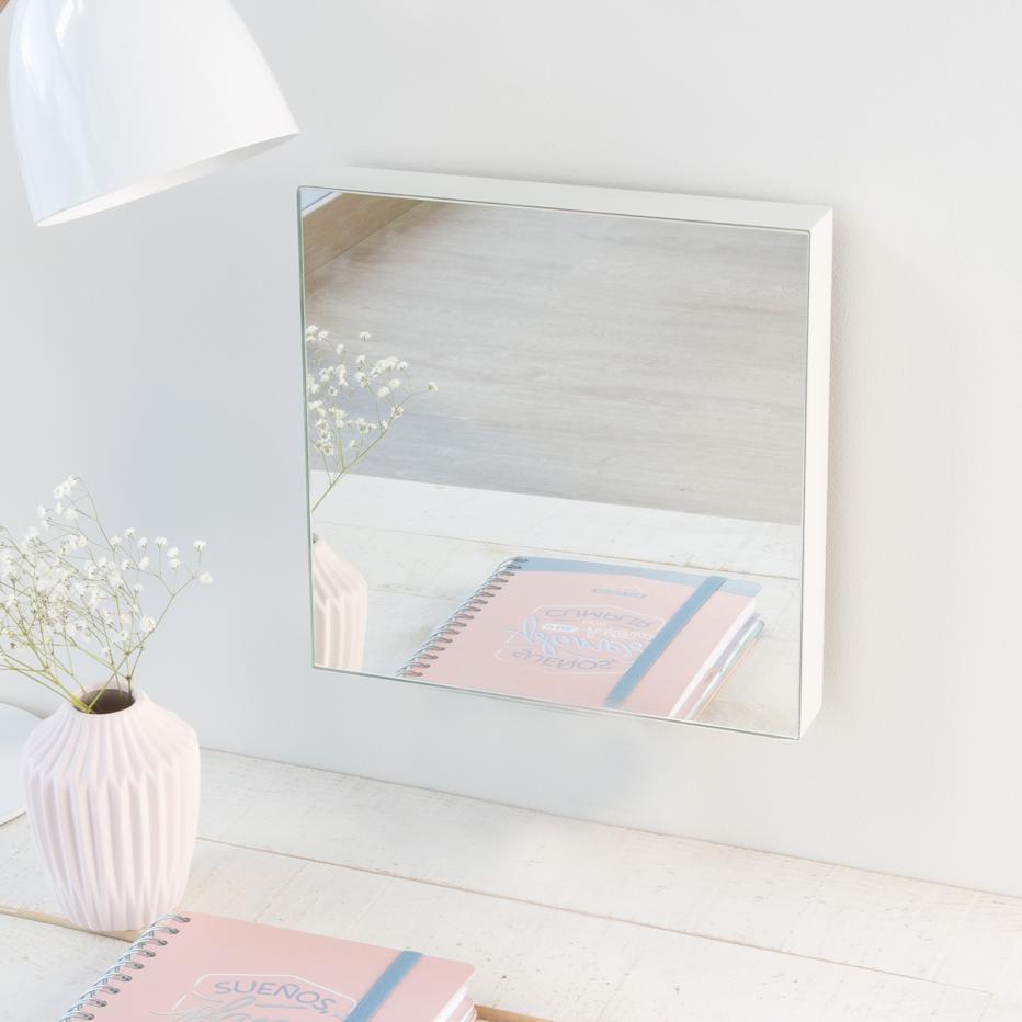 Veo espelho branco 27x27