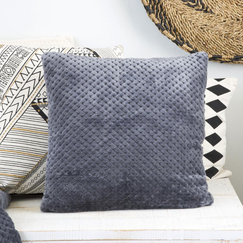 Lemf checkerboard anthracite cushion