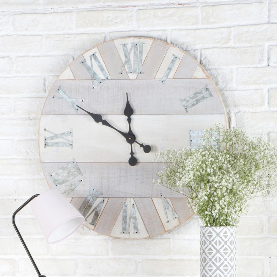 Steil reloj marqueteria gris 64 cm