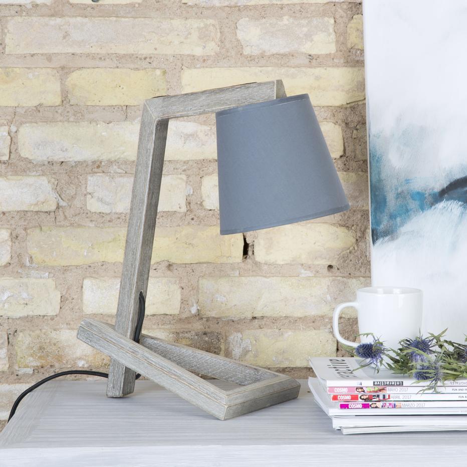 Reble lamp w/ grey lampshade
