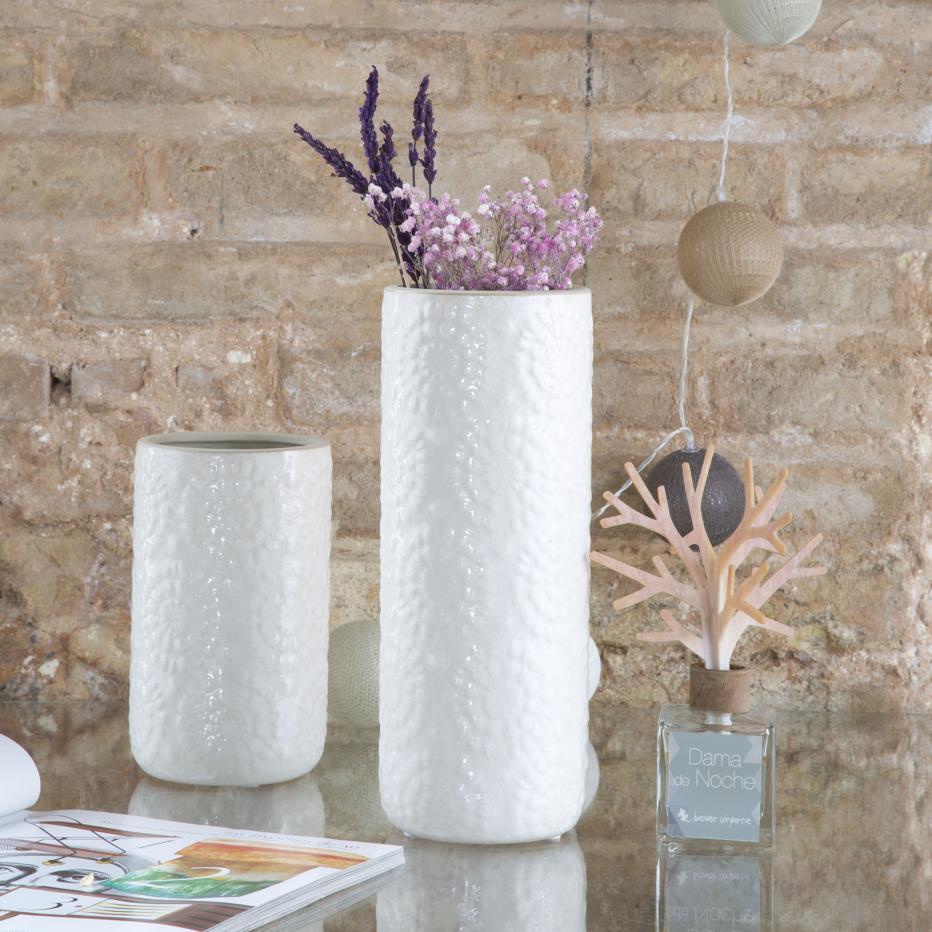 Pore vase blanc grand h27