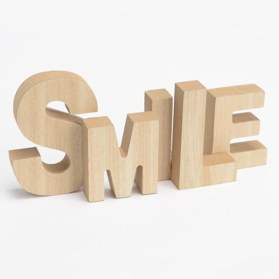Eram lettres bois smile