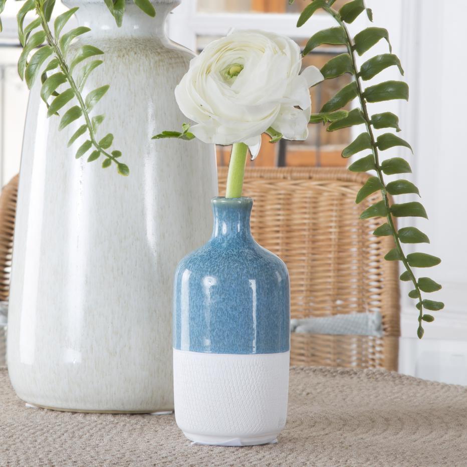 Piut jarron botella h13 blanco-azul