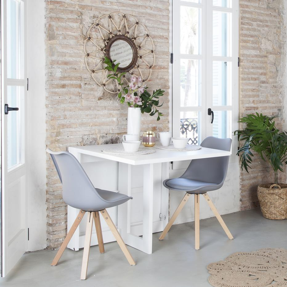 Tan white extendible table