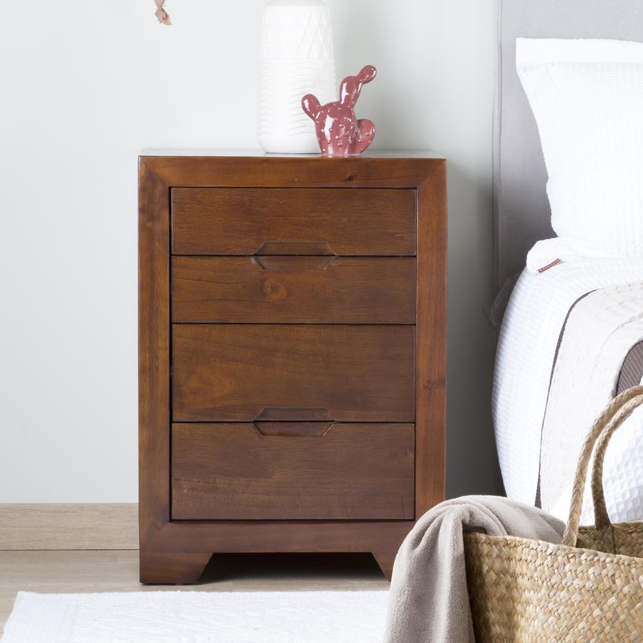para chevet 4 tiroirs banak importa. Black Bedroom Furniture Sets. Home Design Ideas