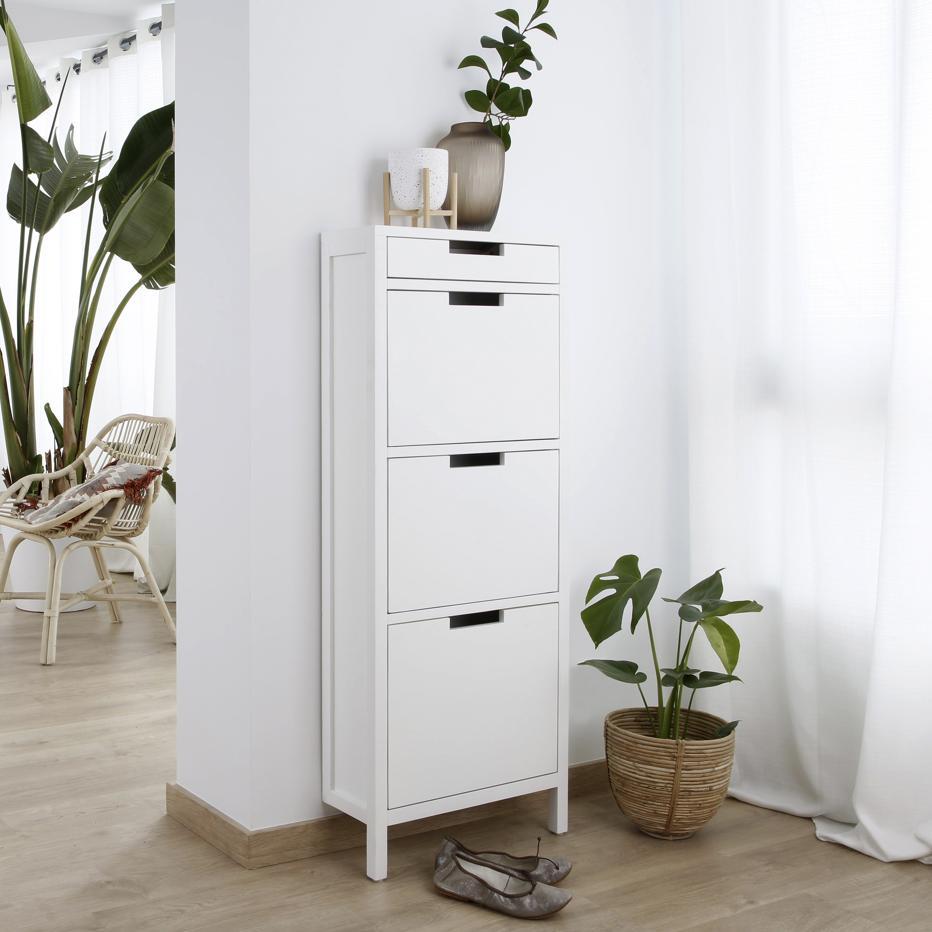 Orus hanging white shoe cabinet