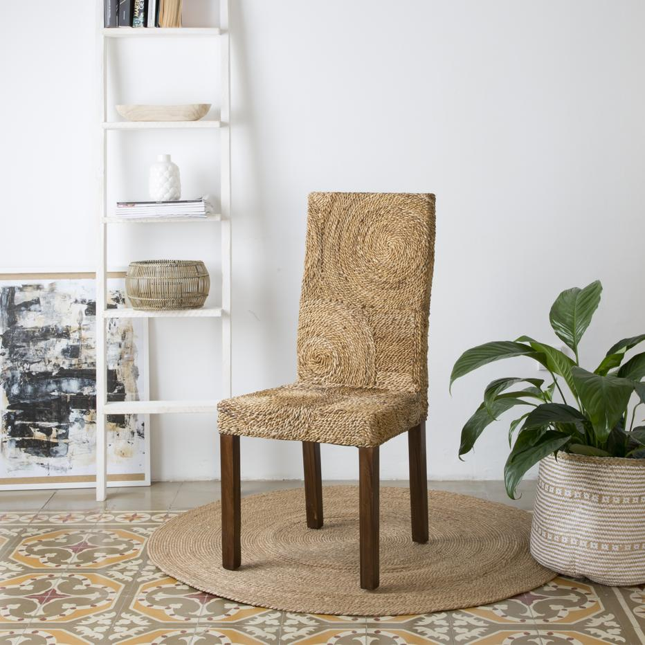 Round chaise abaca